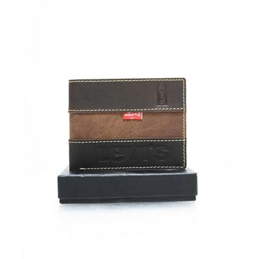 Levis Leather Wallet For Men_levisstdb - Dark Brown