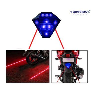 Speedwav LED LASER Brake Light With Flasher-BLUE
