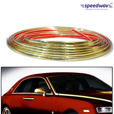 Speedwav Side Window Stylish Golden Beading Roll - 10 meter
