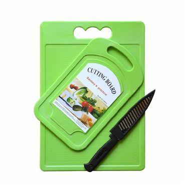 Stylish Nice And Slice Chopping Borad With Knife - Set Of 2