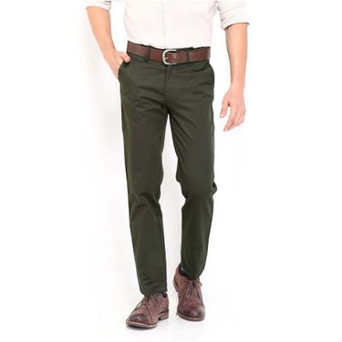 Good karma Cotton Lycra Chinos_kmec19 - Green
