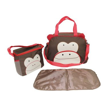 Wonderkids Monkey Face Print Baby Diaper Bag _CH-050-MFDB