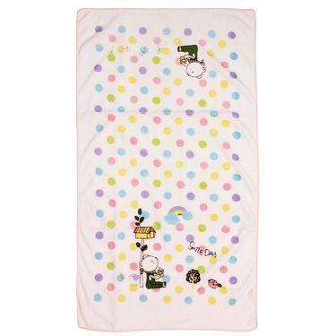 Wonderkids Polka Dot Pink Baby Bath Towel _MW-839-PPBT