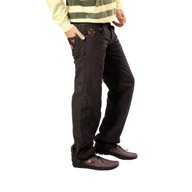 Uber Urban Cotton Trouser_8bndtrscbr - Brown