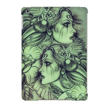 Snooky Digital Print Hard Back Case Cover For Apple iPad Air 23645 - Green