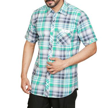 Sparrow Clothings Cotton Checks Shirt_wjc04 - Green