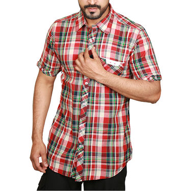 Pack of 5 Sparrow Clothings Cotton Checks Shirts_wjc501 - Multicolor
