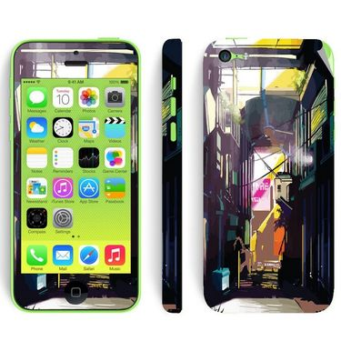 Snooky 28391 Digital Print Mobile Skin Sticker For Apple Iphone 5C - Multi