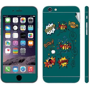 Snooky 28406 Digital Print Mobile Skin Sticker For Apple Iphone 6 - Green