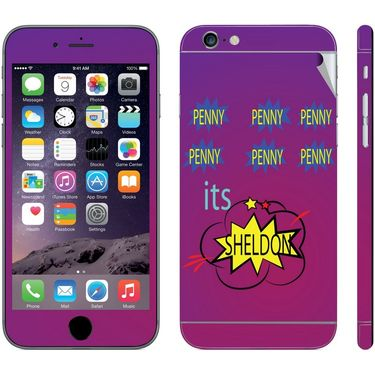 Snooky 28443 Digital Print Mobile Skin Sticker For Apple Iphone 6 Plus - Purple
