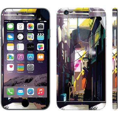 Snooky 28445 Digital Print Mobile Skin Sticker For Apple Iphone 6 Plus - Multi