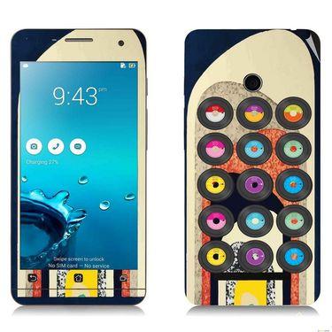 Snooky 27656 Digital Print Mobile Skin Sticker For Asus Zenfone 5 A501CG - Multi