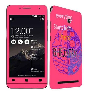 Snooky 27673 Digital Print Mobile Skin Sticker For Asus Zenfone 6 A600CG/A601CG - Pink