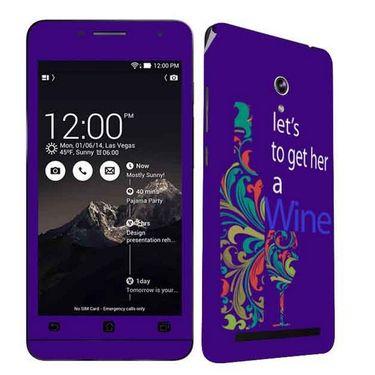 Snooky 27674 Digital Print Mobile Skin Sticker For Asus Zenfone 6 A600CG/A601CG - Purple