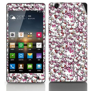 Snooky 27772 Digital Print Mobile Skin Sticker For Gionee Elife E6 - Multi