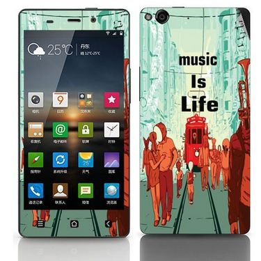 Snooky 27760 Digital Print Mobile Skin Sticker For Gionee Elife E6 - Multi