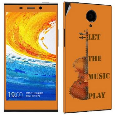 Snooky 27795 Digital Print Mobile Skin Sticker For Gionee Elife E7 - Orange
