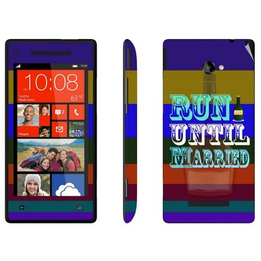 Snooky 28156 Digital Print Mobile Skin Sticker For HTC 8X C620E - Multi