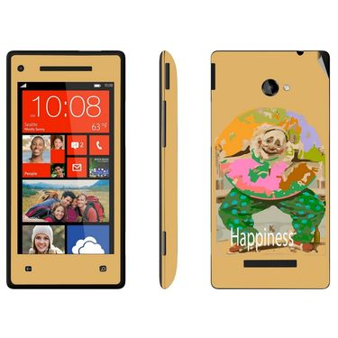 Snooky 28166 Digital Print Mobile Skin Sticker For HTC 8X C620E - Yellow