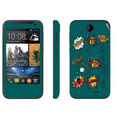 Snooky 27807 Digital Print Mobile Skin Sticker For HTC Desire 310 - Green