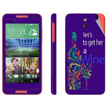 Snooky 28082 Digital Print Mobile Skin Sticker For HTC Desire 610 - Purple