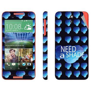 Snooky 28088 Digital Print Mobile Skin Sticker For HTC Desire 610 - Blue