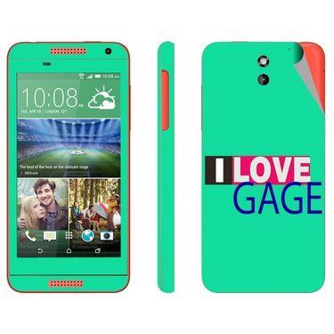 Snooky 28077 Digital Print Mobile Skin Sticker For HTC Desire 610 - Green