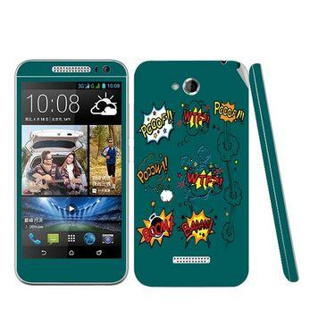 Snooky 28190 Digital Print Mobile Skin Sticker For HTC Desire 616 - Green