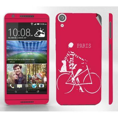 Snooky 28115 Digital Print Mobile Skin Sticker For HTC Desire 820 - Pink