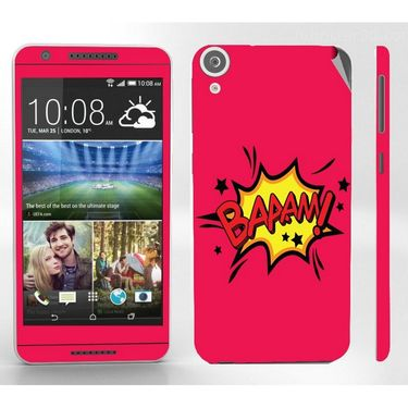 Snooky 28113 Digital Print Mobile Skin Sticker For HTC Desire 820 - Pink