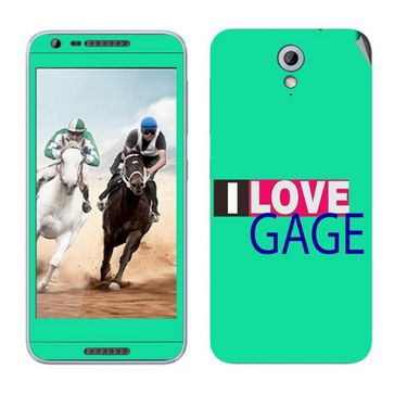 Snooky 28214 Digital Print Mobile Skin Sticker For HTC Desire 820 mini - Green