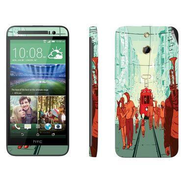 Snooky 28251 Digital Print Mobile Skin Sticker For HTC One E8 - Multi