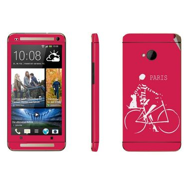 Snooky 28277 Digital Print Mobile Skin Sticker For HTC One M7 - Pink