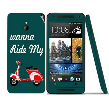 Snooky 28296 Digital Print Mobile Skin Sticker For HTC One mini - Green