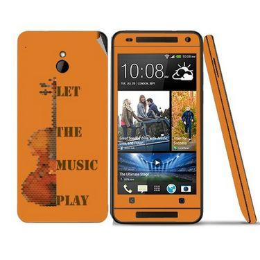 Snooky 28313 Digital Print Mobile Skin Sticker For HTC One mini - Orange