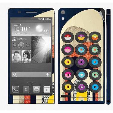 Snooky 28336 Digital Print Mobile Skin Sticker For Huawei Ascend P6 - Multi