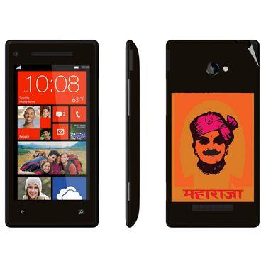 Snooky 28179 Digital Print Mobile Skin Sticker For HTC 8X C620E - Black
