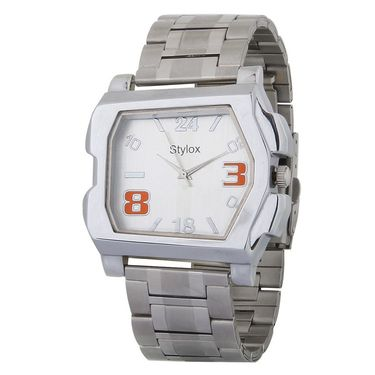 Stylox Square Dial Analog Watch_whstx215 - White