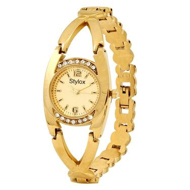 Stylox Round Dial Analog Watch_whstx505 - Golden
