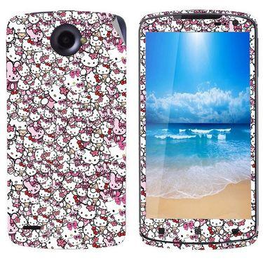 Snooky 38767 Digital Print Mobile Skin Sticker For Lenovo S920 - Pink
