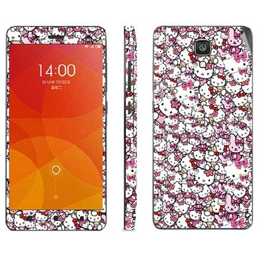 Snooky 38784 Digital Print Mobile Skin Sticker For Xiaomi Mi4 - Pink