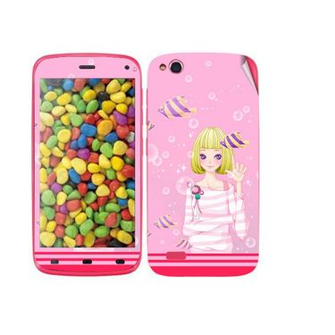 Snooky 38880 Digital Print Mobile Skin Sticker For Gionee Elife E3 - Pink