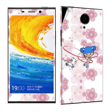 Snooky 38908 Digital Print Mobile Skin Sticker For Gionee Elife E7 - White