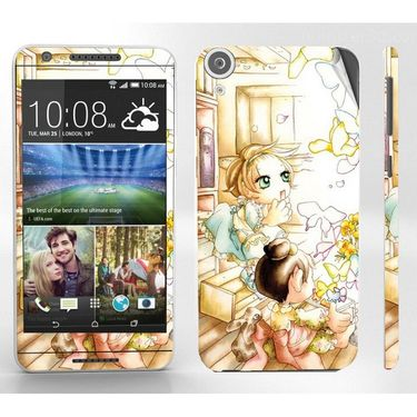 Snooky 38933 Digital Print Mobile Skin Sticker For HTC Desire 820 - White