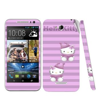 Snooky 38971 Digital Print Mobile Skin Sticker For HTC Desire 616 - Purple