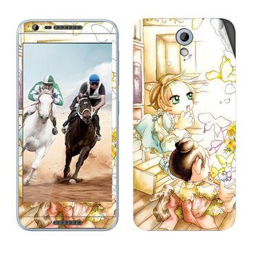 Snooky 38981 Digital Print Mobile Skin Sticker For HTC Desire 820 mini - White