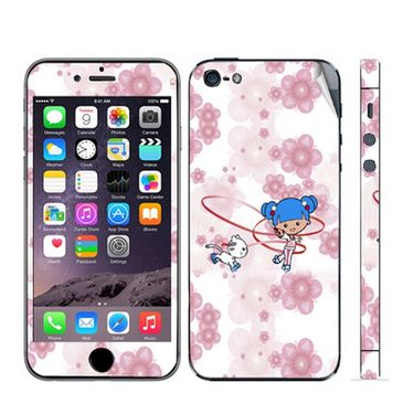 Snooky 39052 Digital Print Mobile Skin Sticker For Apple Iphone 5 - White