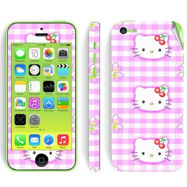 Snooky 39056 Digital Print Mobile Skin Sticker For Apple Iphone 5C - Pink