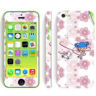 Snooky 39064 Digital Print Mobile Skin Sticker For Apple Iphone 5C - White