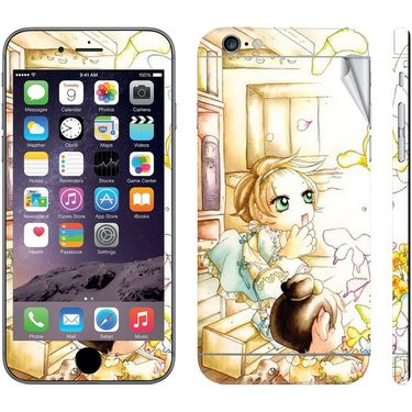 Snooky 39065 Digital Print Mobile Skin Sticker For Apple Iphone 6  - White